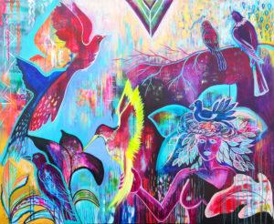 Wilde Natur, Acryl, 120cm x 100cm