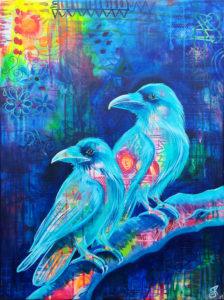 Corvus Corax, Acryl, 60cm x 80cm