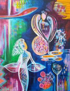 Verbundene Seelen, Acryl, 70cm x 90cm