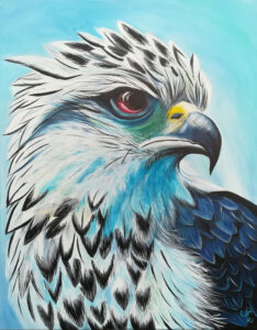 Greifvogel, 90cm x 70cm, Acryl