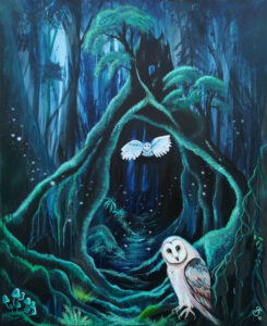 Mystischer Wald, 80cm x 100cm, Acryl