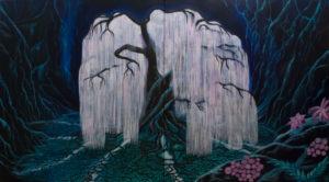 Baum der Seelen, (im Hellen), 2x 120 cm x 140 cm, Acrylmischtechnik, in Privatbesitz