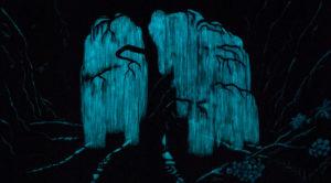 Baum der Seelen, (im Dunkeln), 2x 120 cm x 140 cm, Acrylmischtechnik, in Privatbesitz