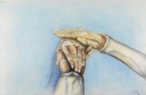 Menschlichkeit (Ich bin immer für dich da), 50 cm x 70 cm, Pastell
