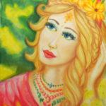 Schönheit, 50 cm x 70 cm, Pastell