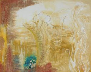 Loslösen, 100 cm x 80 cm, Acryl