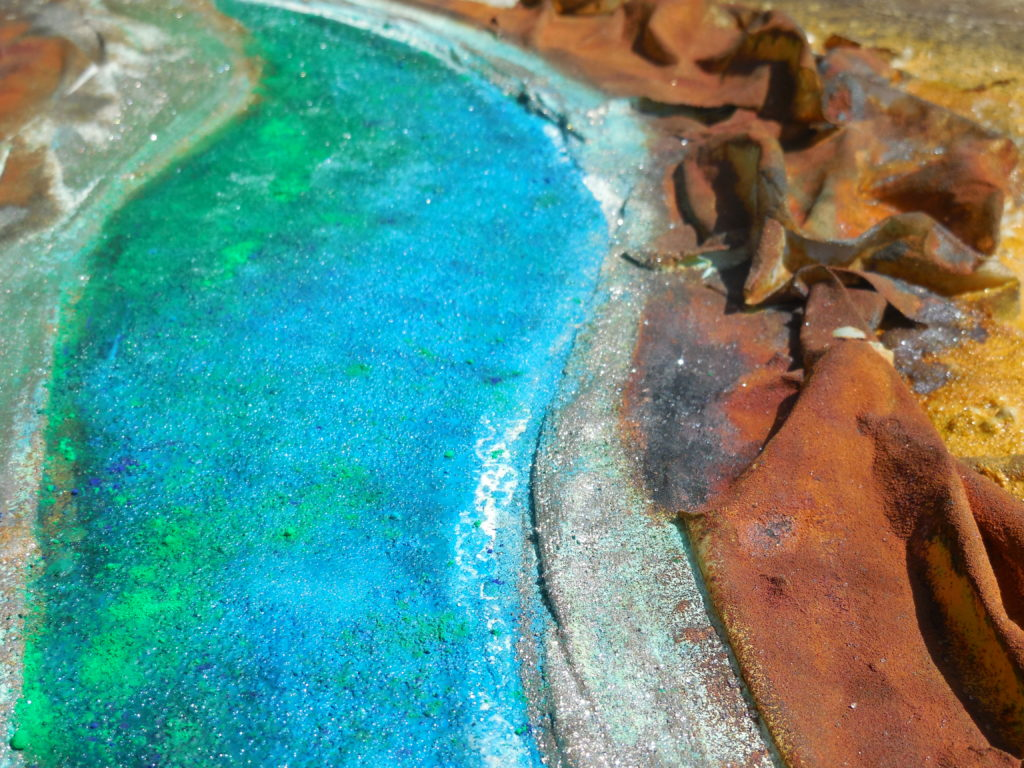 Landschaft (Detail), 80cm x 60cm, Mixed Media