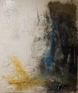 Sanft in Blau, 50cm x 60cm, Mixed Media