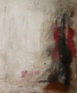 Sanft in Rot, 50cm x 60cm, Mixed Media