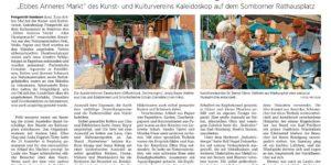 Artikel über den Ebbes-Anneres-Markt am Rathaus am 26.8.2017