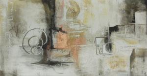 Bronzezeit, 120 cm x 60 cm, Mixed Media