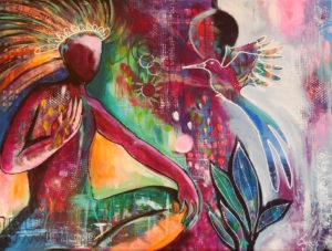 Von Seele zu Seele, 80 cm x 60 cm, Acryl