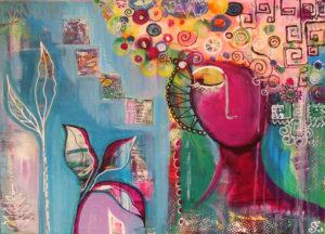 Kreativität, 70 cm x 50 cm, Acryl