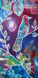 Friedenstaube, 50 cm x 100 cm, Acryl