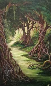 Im Dschungel verborgen, 60 cm x 100 cm, Acryl