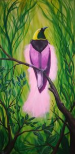 Paradiesvogel, 60cm x 120cm Acryl