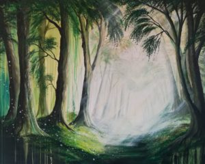 Feenlichtung 100 cm x 80 cm, Acryl