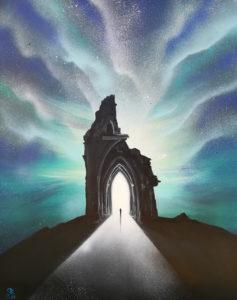 Knocking on Heaven's Door, 80 cm x 100 cm, Acryl