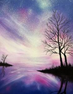 Sternenklar, 70 cm x 90 cm, Acryl