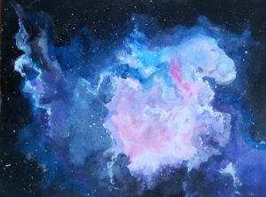 Interstellare Wolke, 30 cm x 21 cm, Aquarell