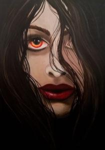 Blick in die Seele, 80 cm x 100 cm, Acryl