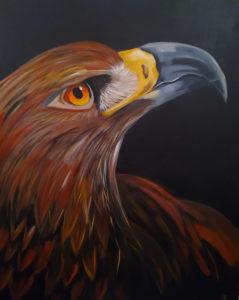 Adler, 80 cm x 100 cm, Acryl