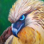 Philippinscher Adler ,Acryl auf Leinwand 80x100cm