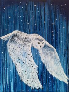 Hedwig, 90cm x 70cm, Acryl